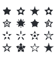 set of star icons vector image vector image