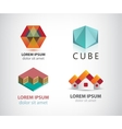 set of various logos vector image vector image