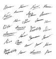 signature icons collection vector image