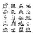 Sketch of art houses for your design vector image vector image