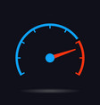 speed test circle vector image vector image