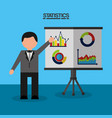 statistics data business report vector image