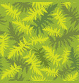 tropcal leaves floral seamless pattern vector image vector image