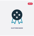 two color elections badge with a star icon from vector image