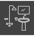 Washroom vector image