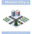 Winter christmas urban quarter modules