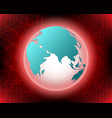 world cyber attack by hacker concept background vector image