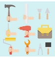 tool set in flat design vector image