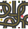 Road seamless pattern vector image