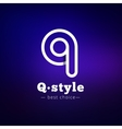 Q letter minimalistic logo Abstract vector image