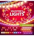 Valentines Lights Decorations Set vector image