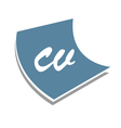 Curriculum Vitae Sign vector image