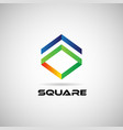 abstract colorful square shape company business vector image vector image