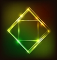 Abstract glowing background with squares vector image vector image