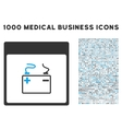 Accumulator Calendar Page Icon With 1000 Medical vector image vector image