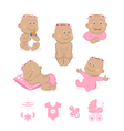African baby girl set vector image vector image