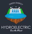 alternative energy power industry hydroelectric vector image vector image