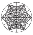 arabian star-shape panel is an 18th century vector image vector image