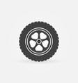 automobile wheel icon or design element vector image vector image