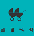 baby carriage for two baby icon flat vector image