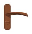 bronze door handle house interior element flat vector image