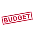 Budget rubber stamp vector image vector image