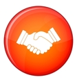 Business handshake icon flat style vector image vector image