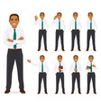 businessman set vector image