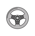 car steering wheel function part vehicle icon vector image