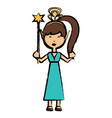 cartoon fairy girl icon vector image