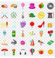 celebrating icons set cartoon style vector image vector image