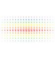 certificate spectral halftone matrix vector image vector image