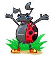 Cheerful ladybug vector image vector image