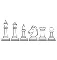 chess contour set vector image vector image