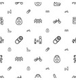 child icons pattern seamless white background vector image vector image