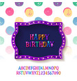 children happy birthday greeting card vector image vector image