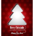 Christmas with abstract tree design vector image vector image