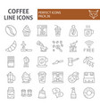 coffee thin line icon set cafe symbols collection vector image
