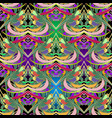 colorful ornamental paisley seamless pattern vector image vector image