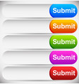 colorful rounded submit buttons text input vector image