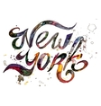 Conceptual handwritten phrase New York City on a vector image