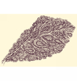 Croton leaf in paisley style vector image