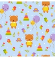 Cute baby pattern design in vector image vector image