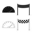 design of car and rally symbol collection vector image vector image