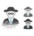 dissolved pixelated halftone security agent icon vector image vector image