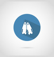 diving flippers icon with shadow vector image vector image
