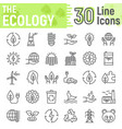 ecology line icon set green energy signs vector image vector image