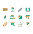 Flat design icons for drugstore vector image
