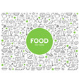 food and drink pattern vector image