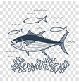 for fishing linear style vector image vector image
